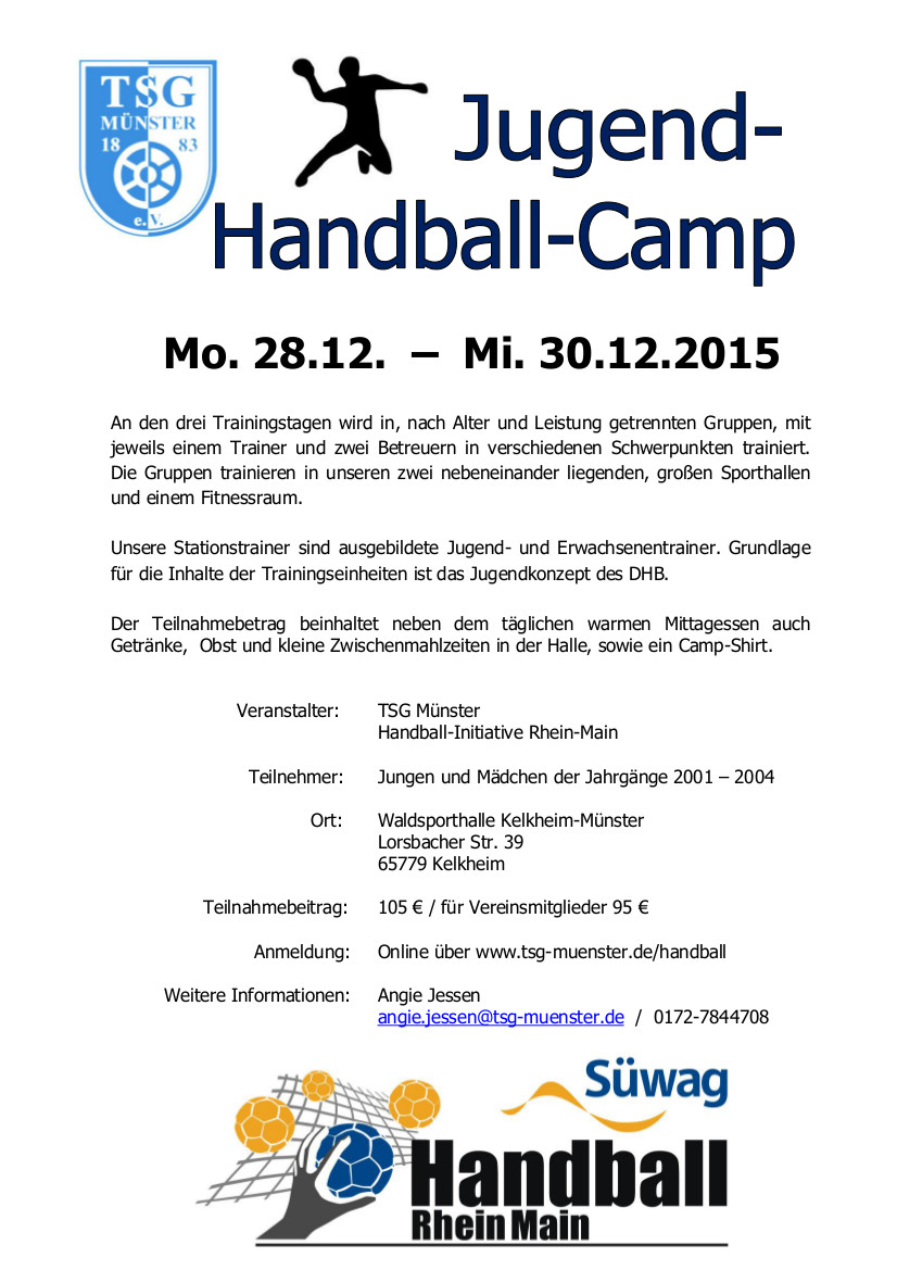 Flyer Handball-Camp 2015