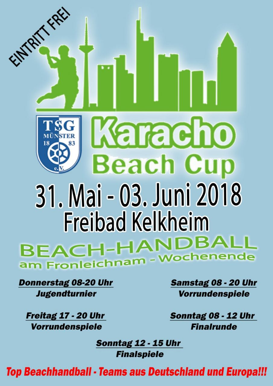 Beach-Handball 2018 Plakat   -   4 x in A3