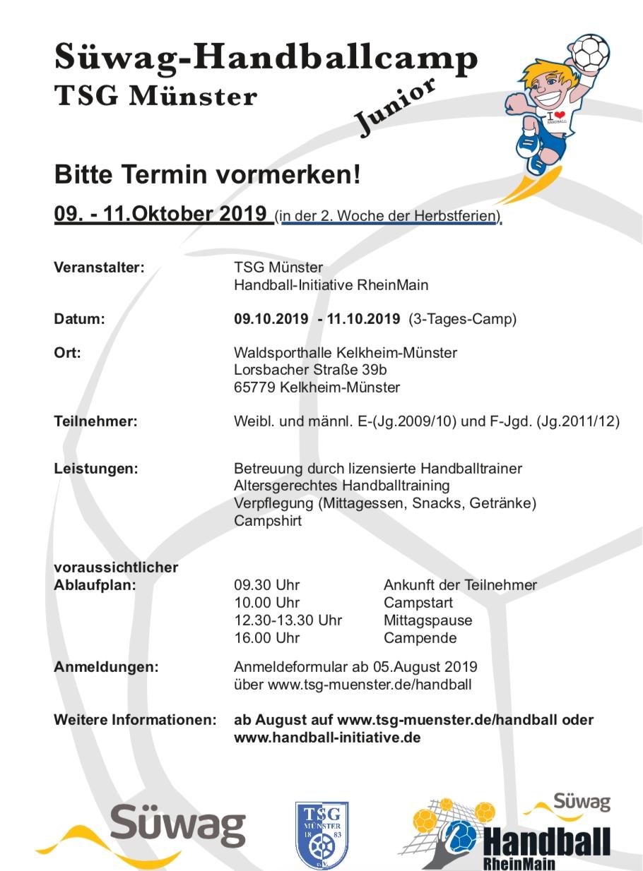 2019-06-13 Flyer Handballcamp