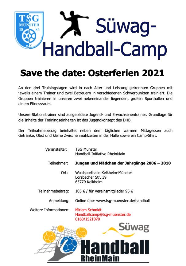 Handballcamp Winter 2020